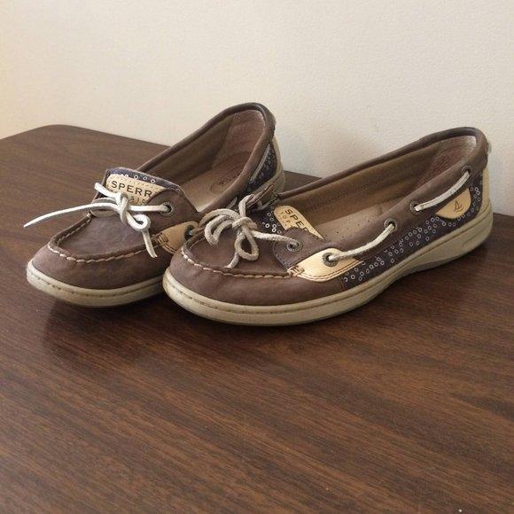 Sperry Shoes - Women's Sperry Top-Sider Metallic Sequin Design 7M